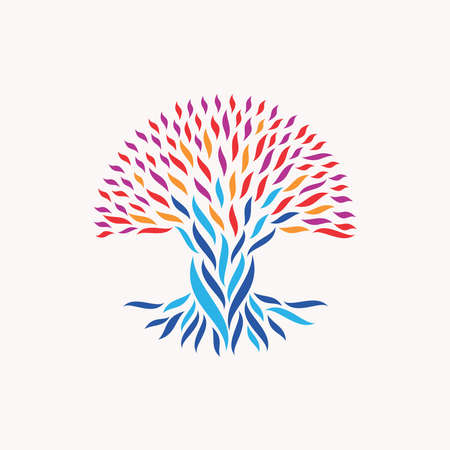charity: Abstract tree illustration.