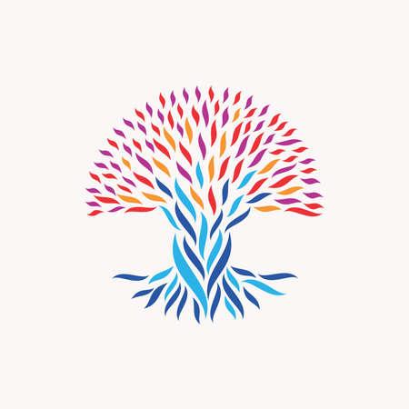 arbol de problemas: Ilustración abstracta del árbol. Vectores