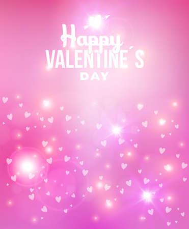 vintage etiket: Happy Valentines Day abstracte onscherpe achtergrond afbeelding met zacht licht, harten liefde en vintage label. Ideaal voor de wenskaart, poster design en web template.