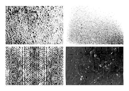 grunge textures: Set of isolated grunge textures design illustration. EPS10 vector file. Illustration