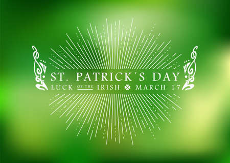 Happy St Patricks day vintage label illustration background. vector file Illustration