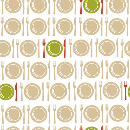 Restaurant and food seamless pattern illustration. Ideal for menu, book cover, fabric and paper prin vector file. Фото со стока - 37545888