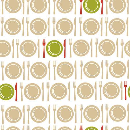 prin: Restaurante y alimentos sin fisuras patr�n ilustraci�n. Ideal para el men�, de libro, tela y archivo vectorial prin papel.