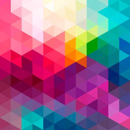 Motivos geométricos de colores de fondo sin fisuras de fondo con triángulos y polígonos formas. Ideal para la tela de diseño web y la plantilla de aplicación la portada del libro y papel de regalo. Foto de archivo - 39907850