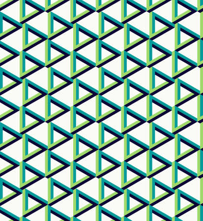 arty: Abstract isometric 3d impossible triangle sign seamless pattern background. Ideal for fabric design wrapping paper print and website backdrop. vector file. Illustration