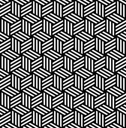 arty: Abstract isometric 3d cube shapes seamless pattern background.