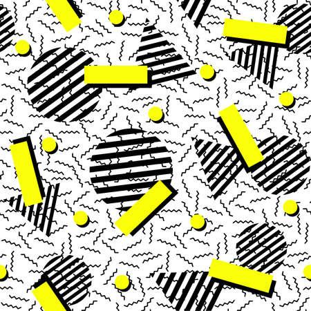 Retro vintage 80s fashion style seamless pattern illustration background. Vettoriali