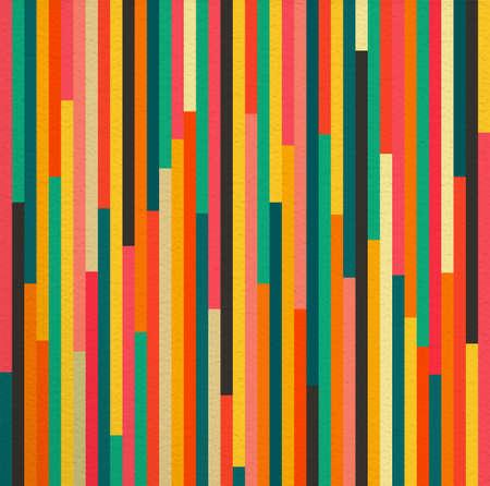 Géométrique abstrait coloré vintage rétro motif de fond sans soudure. Idéal pour le tissu, le papier d'emballage et de la conception de la couverture du livre. Fichier vectoriel EPS10. Banque d'images - 43200891