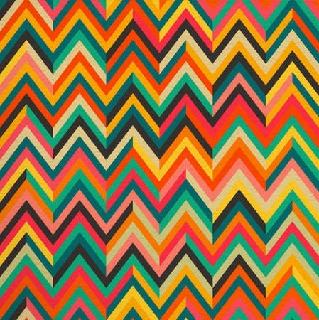paper art: Geometric abstract zigzag colorful vintage retro seamless pattern background. Ideal for fabric, wrapping paper and book cover design. EPS10 vector file.