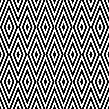 optical: Geometric black and white abstract zigzag vintage retro seamless pattern background. Ideal for fabric, wrapping paper and book cover design. Illustration