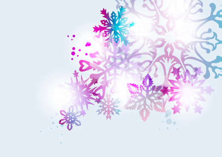 gift of hope: Contemporary Christmas elegant snowflake elements with transparency ideal for greeting card or party invitation background. EPS10 vector file.