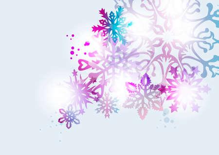 diversidad: elegante elementos contemporáneos copo de nieve de la Navidad con la transparencia ideales para tarjeta de felicitación o fondo de la invitación del partido. archivo vectorial EPS10.