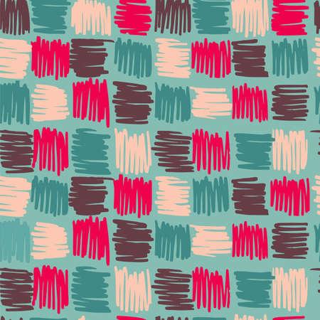 Piazze Geometria seamless stile boho Sfondo vintage. Ideale per carta da imballaggio, disegno tessuto o nastro sullo sfondo. file vettoriale EPS10. Archivio Fotografico - 45955564