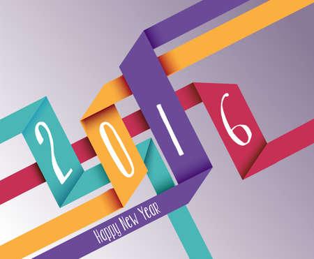 fondo para tarjetas: Feliz celebraci�n del a�o nuevo 2016 Fondo de geometr�a de color Origami sencilla tarjeta de felicitaci�n de vacaciones. EPS10 del vector.
