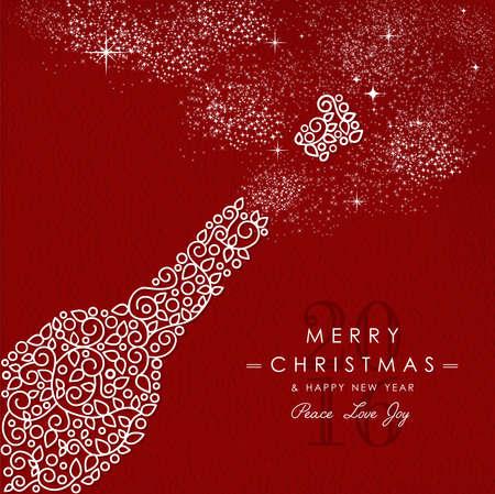 Frohe Weihnachten und glückliches neues Jahr Art-Deco- Standard-Bild - 47165013