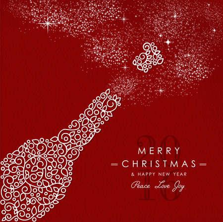 Joyeux Noël et Bonne année art déco