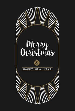 メリー クリスマス新年あけましておめでとうございますアールデコ