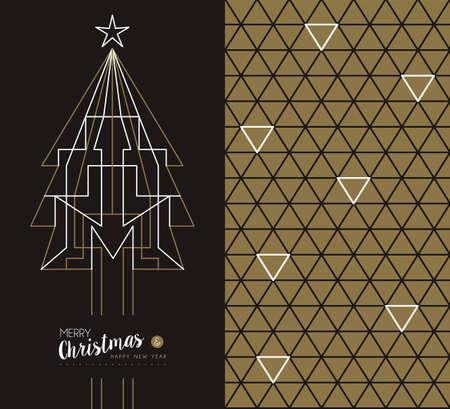 xmas star: Merry christmas happy new year set