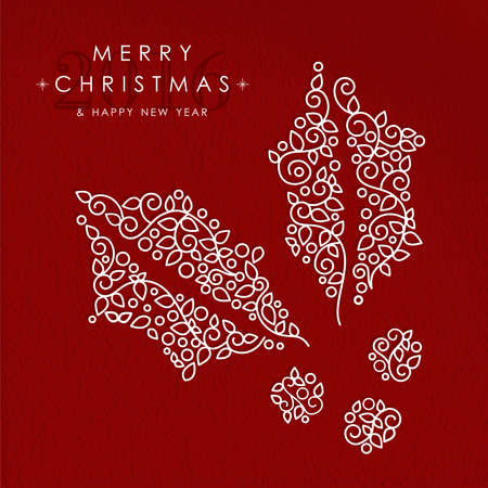 christmas deco: Merry christmas and happy new year art deco Illustration
