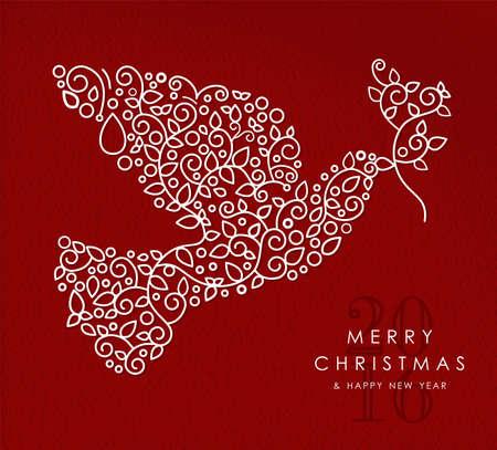 paloma de la paz: Feliz Navidad y feliz a�o nuevo art deco Vectores