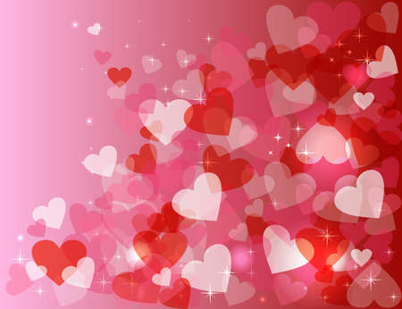 Happy valentines day card background: heart shape sparkle design in bokeh style. EPS10 vector.
