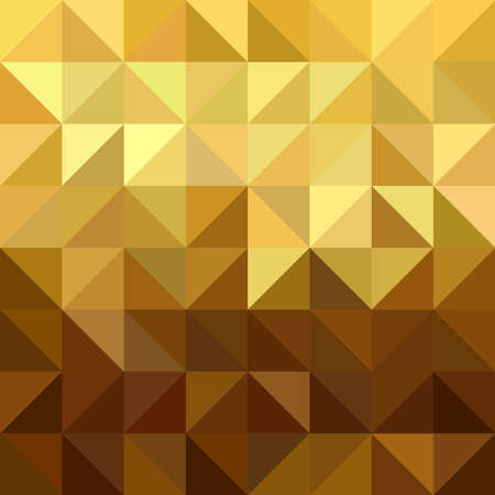 triangle pattern: Fancy golden triangle and square shaped seamless pattern in low poly origami style. Ideal for web background, print, or greeting card. EPS10 vector. Illustration
