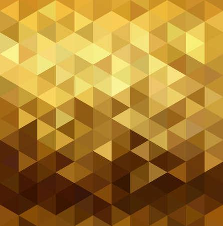 Fancy gouden naadloos patroon in lage veelhoek mozaïek stijl. Ideaal voor web achtergrond, print, of wenskaart. EPS10 vector. Stock Illustratie