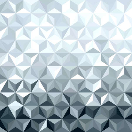 digital art: Metal silver seamless pattern in low polygon 3d design. Ideal for web background, print, or greeting card.   Illustration
