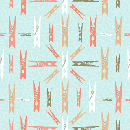 clothespin: Clothespin design retro seamless pattern concept background. Ideal for web backdrop, print or vintage style campaign. Illustration