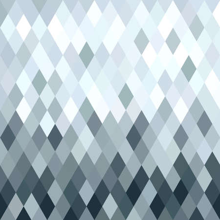Fancy silver metallic rhombus seamless pattern in low poly style. Ideal for web background, print, or greeting card.