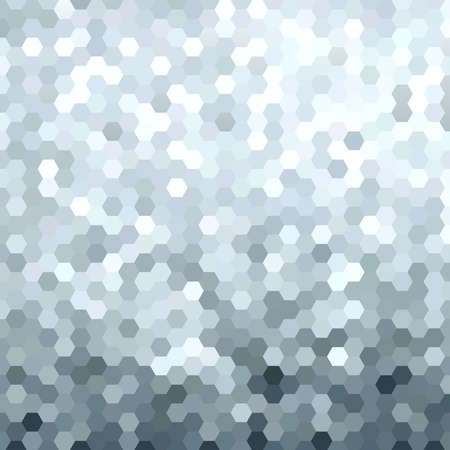 Fancy silver metallic honeycomb grid geometry background. Ideal for web background, print, or greeting card. EPS10 vector.