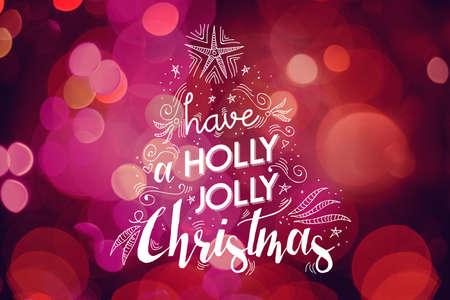 tarjeta de invitacion: Dise�o Feliz tarjeta de felicitaci�n de la Navidad: Navidad del �rbol da bosquejo dibujado con elementos de ornamentaci�n y el texto de fiesta de luz de fondo bokeh.