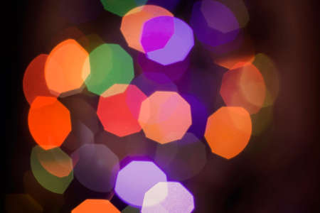 lighting background: Blur light abstract background, defocused color lighting with bokeh effect. Ideal for holiday greeting card, event invitation or web backdrop.