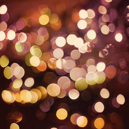 Celebration background: party lights with blur bokeh effect. Ideal for wedding, anniversary, holiday greeting card or web backdrop. Stock Photo