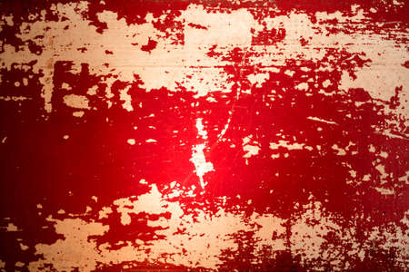 aged wood: Vintage concept grunge aged wood background with old red paint.