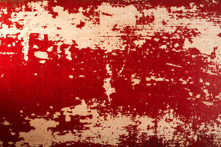 aged wood: Vintage wood red old aged paint texture grunge background.