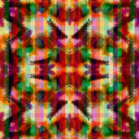 Colorful seamless pattern, tie dye hippie abstract style design.
