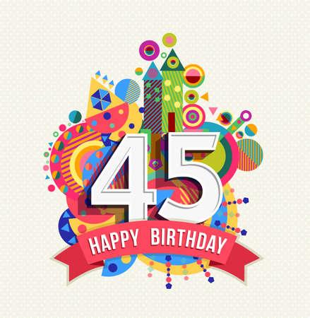 Número 40 Del Feliz Cumpleaños Tarjeta De Felicitación