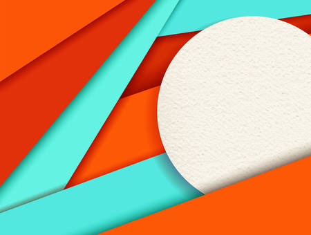 materials: Modern material design abstract background with colorful geometric shapes and textures, 3d volume style effect.  vector.