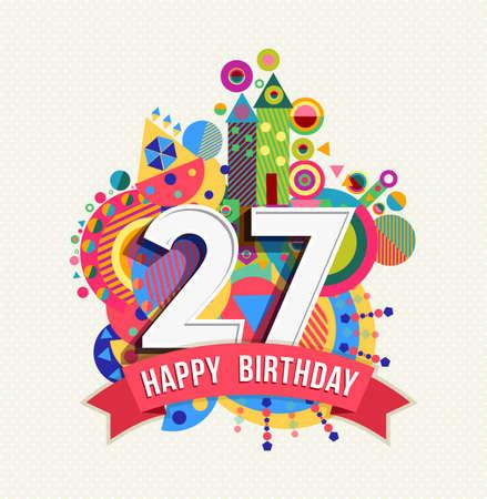Gelukkige Verjaardag Tweeentwintig 22 Jaar Royalty Vrije Cliparts