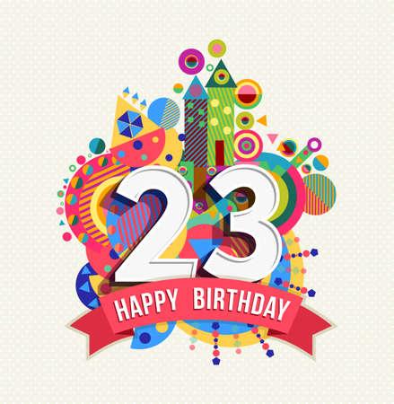 Buon compleanno ventitre 23 anni Archivio Fotografico - 52426072