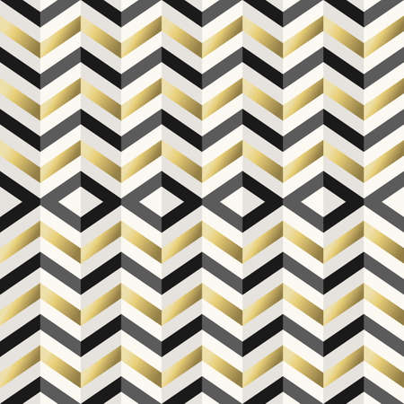 2d wallpaper: Retro hipster seamless pattern, geometry background in gold metallic color.