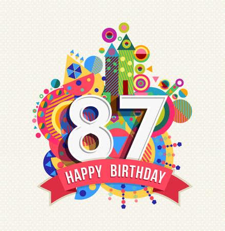 eighty: Happy Birthday eighty seven 87 year