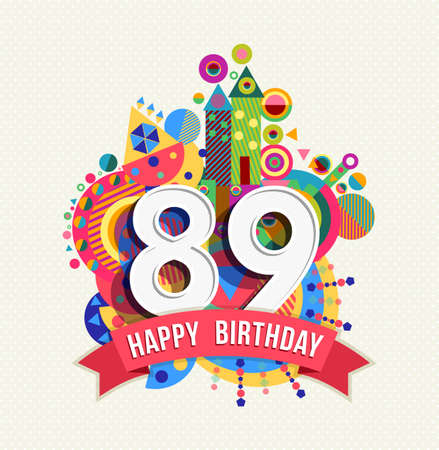 eighty: Happy Birthday eighty nine 89 year