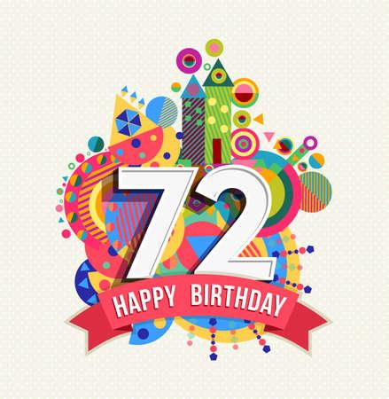 seventy two: Happy Birthday seventy two 72 year