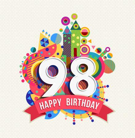 ninety: Happy Birthday ninety eight 98 year