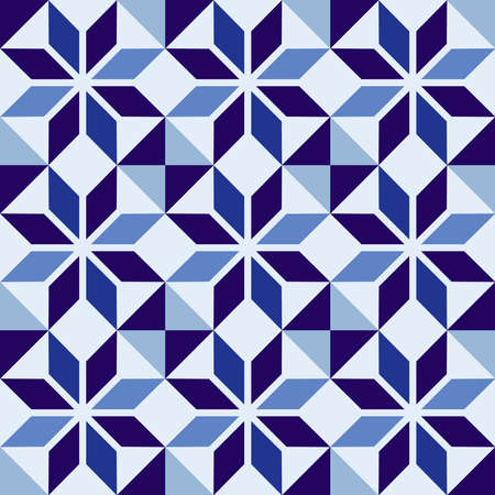 classic ceramic mosaic tile seamless pattern with abstract geometric shape decoration eps10 vector vector
