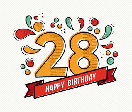 Открытки с днём рождения девушке 28 лет 4