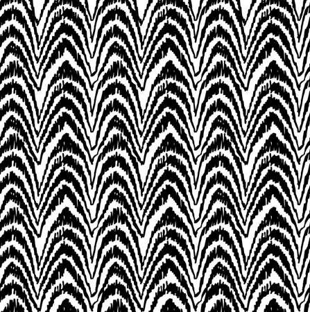 backdrop design: Retro boho black and white seamless pattern background with monochrome tribal art. Ideal for fabric design, paper print, web backdrop. Illustration