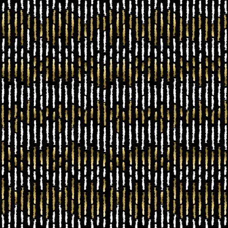 striped: Simple striped seamless pattern with gold hand drawn style lines.